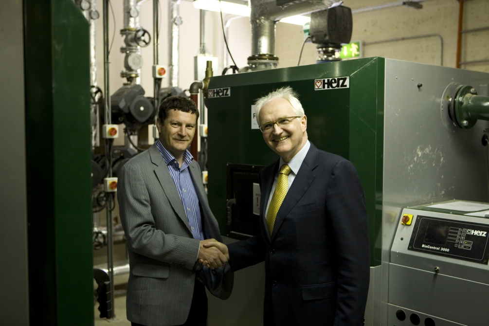 John Gormley, Green Party TD at the Filtrex Biomass Boiler opening